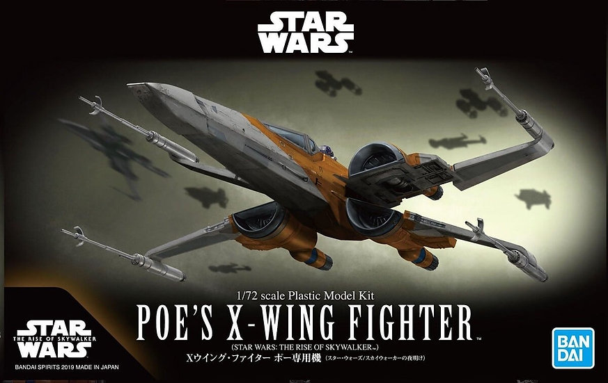 "Poe's X-Wing Fighter (Rise of Skywalker Ver.) ""Star Wars"", Bandai Spirits 1/72"
