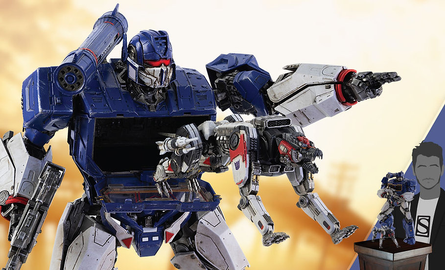 Soundwave & Ravage by Threezero DLX Scale - Die-Cast Bumblebee Movie