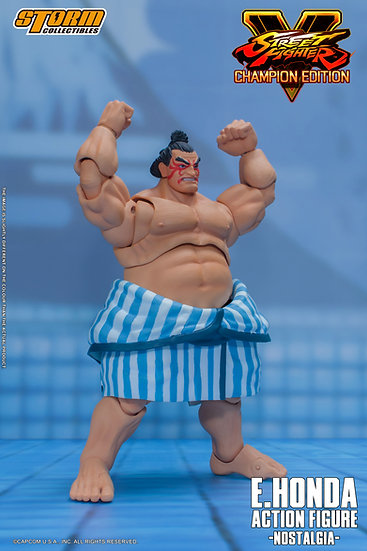 "E. Honda (Nostalgia Costume) ""Street Fighter V"", Storm Collectibles 1/12"