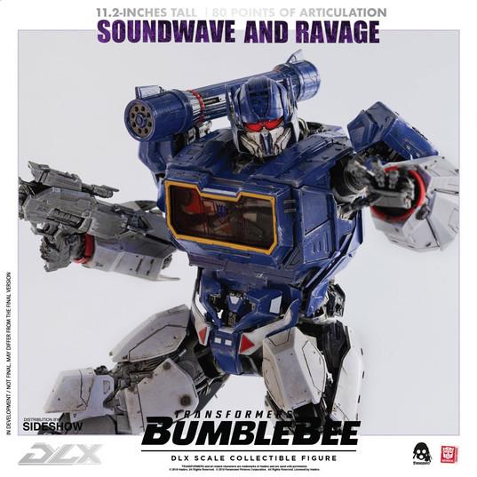 Soundwave & Ravage by Threezero DLX Scale - Die-Cast Bumblebee Movie