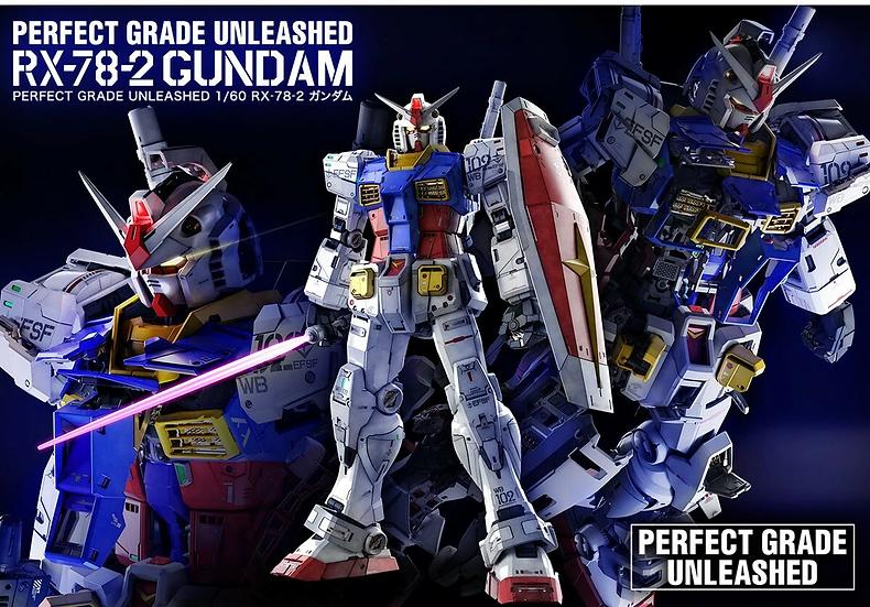 """RX-78-2 Gundam """"Mobile Suit Gundam"""", Bandai Hobby PG Unleashed 1/60"""
