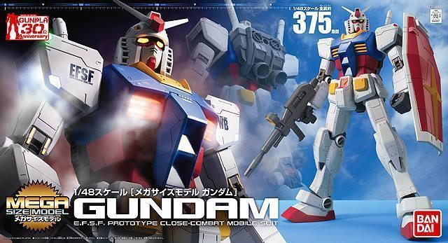 RX-78-2 Gundam 1/48 Bandai Mega Size