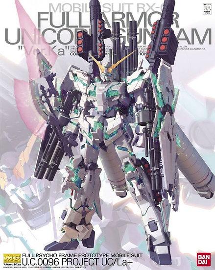 Gundam Unicorn Full Armored 1/100 Bandai Ver Ka MG
