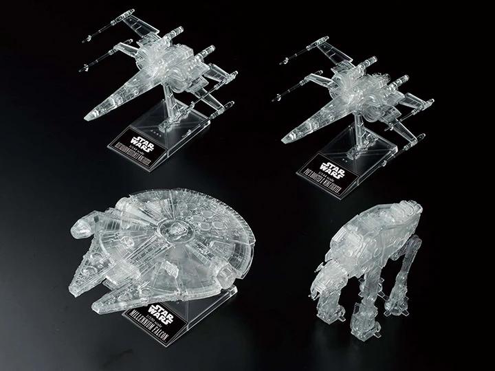 1/144 & 1/350 & 1/540  Star Wars The Last Jedi Clear Vehicle Set