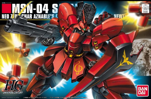"#88 Sazabi ""Char's Counterattack"", Bandai HGUC"