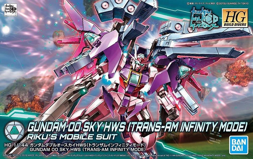 #20 Gundam 00 Sky HWS Trans-Am Infinity Ver Bandai HGBD 1/144