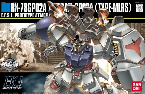 """#75 RX-78GP02A Gundam GP02 Physalis MLRS Custom """"Gundam 0083"""", Bandai HGUC"""