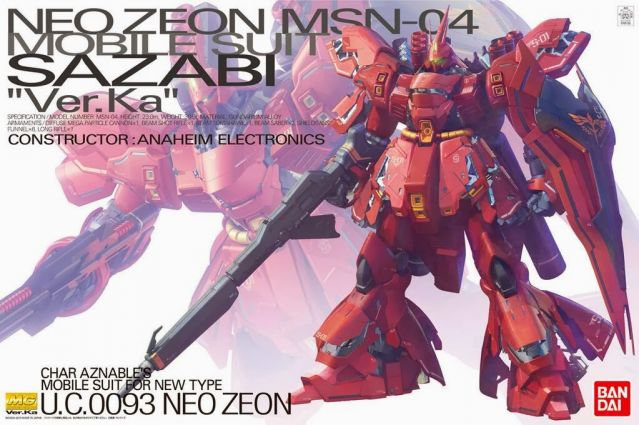 "Sazabi (Ver. Ka) ""Char's Counterattack"", Bandai MG 1/100 Pre Orden"