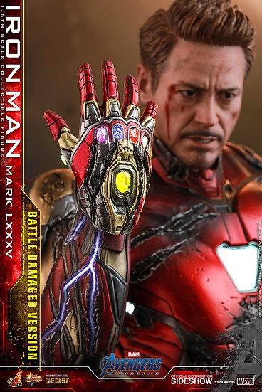 Iron Man Mark 85 Battle Damaged DIECAST Avenger Endgame Hot Toys Pre Orden