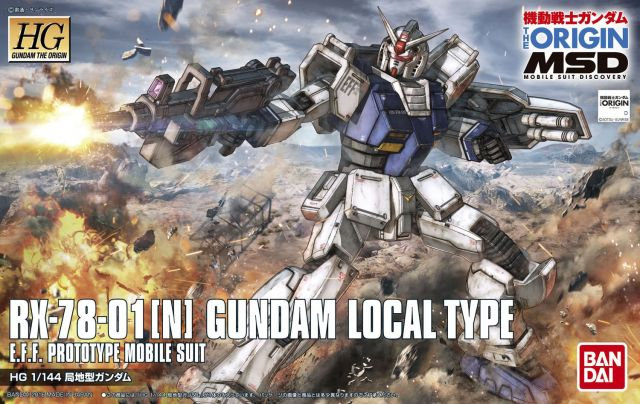 "#10 Gundam Local Type ""Gundam The Origin"", Bandai HG The Origin 1/144"