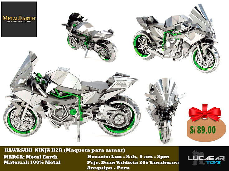 Kawasaki Ninja H2R by Metal Earth