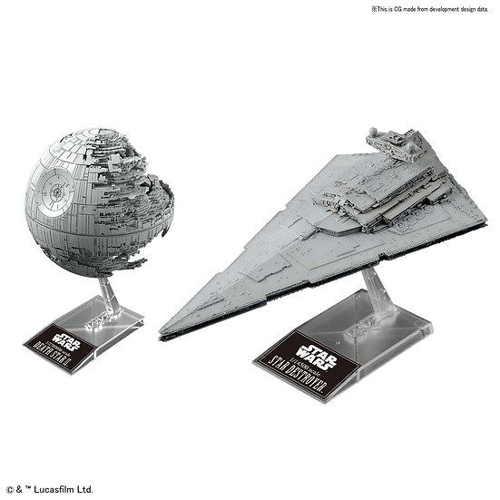 Death Star II 1/2,700,000 & Star Destroyer 1/14,500 Star Wars Bandai Model Kit