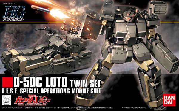 #106 Loto Twin Set 1/144, Bandai HGUC Pre Orden