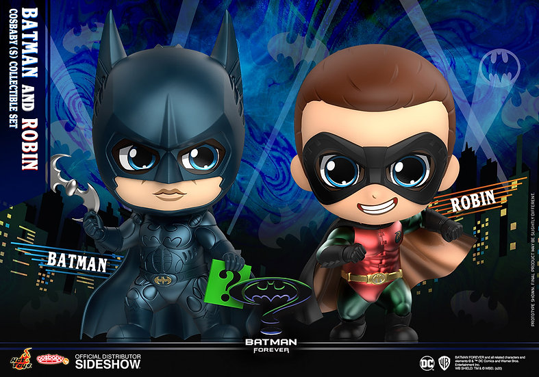 Batman & Robin Cosbaby (S) Collectible Set - Batman Forever (Hot Toys)