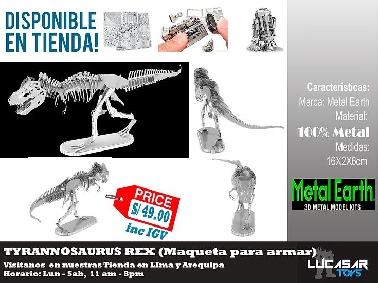 T Rex Skeleton Metal Earth