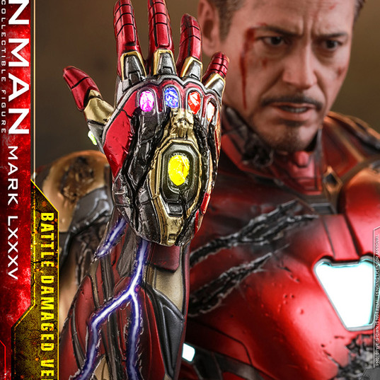 Iron Man Mark 85 Battle Damaged DIECAST Avenger Endgame Hot Toys