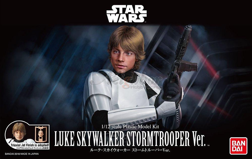 Luke Skywalker Stormtropper Star Wars Bandai 1/12 Model Kit