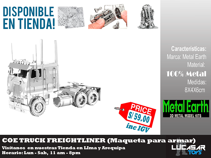 Coe Truck Freightlinner Metal Earth