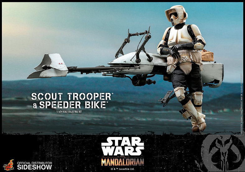 Scout Trooper and Speeder Bike by Hot Toys The Mandalorian