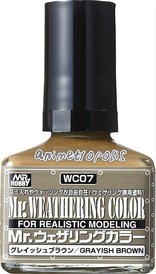 WC07 Grayish Brown (Box/6), GSI, Mr. Weathering Color Paint