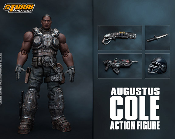 "Augustus Cole ""Gears of War"", Storm Collectibles 1:12"