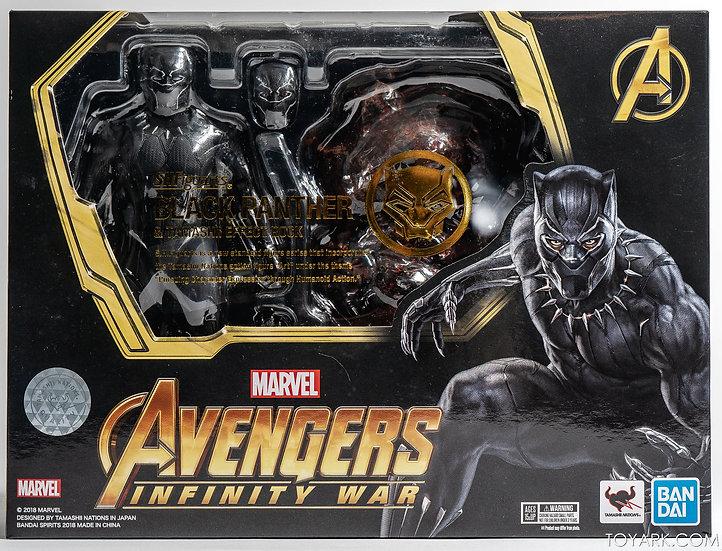 Black Panther & Effect Rock SH Figuarts  Avengers: Infinity War Bandai