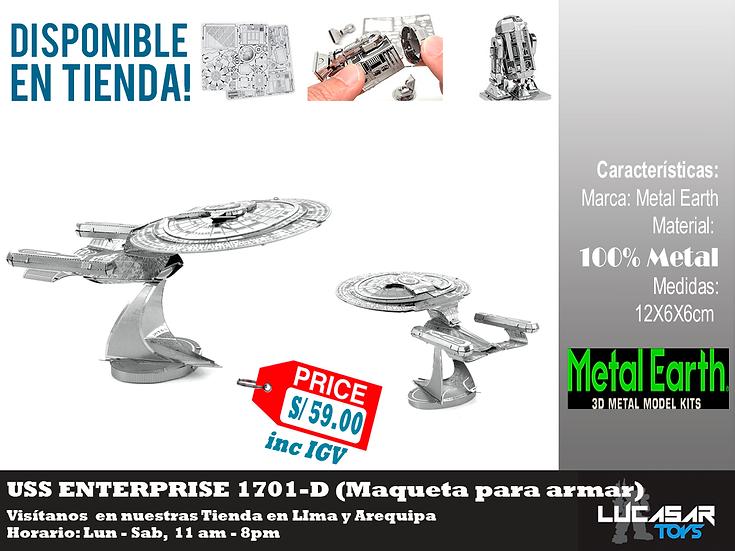 Enterprise NCC 1701-D Metal Earth