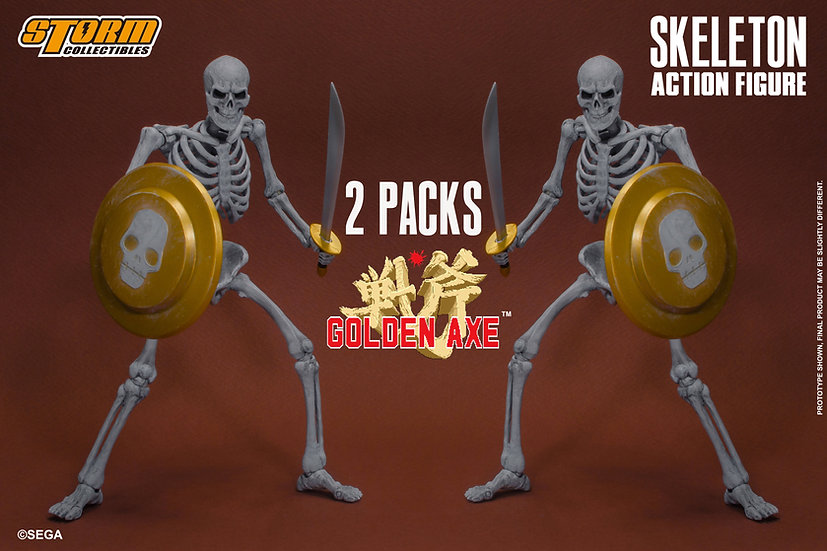 "Skeleton Soldier 2 Pack ""Golden Axe"", Storm Collectibles 1/12"