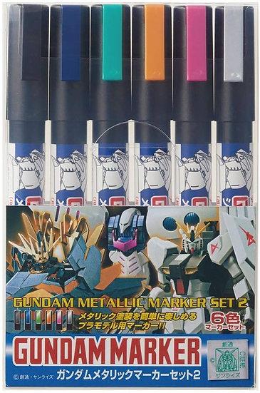 Gundam Metallic Marker set 06 unidades  GMS-125