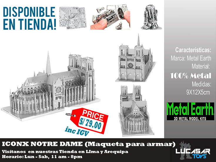 Notre Dame Paris Iconx Metal Earth