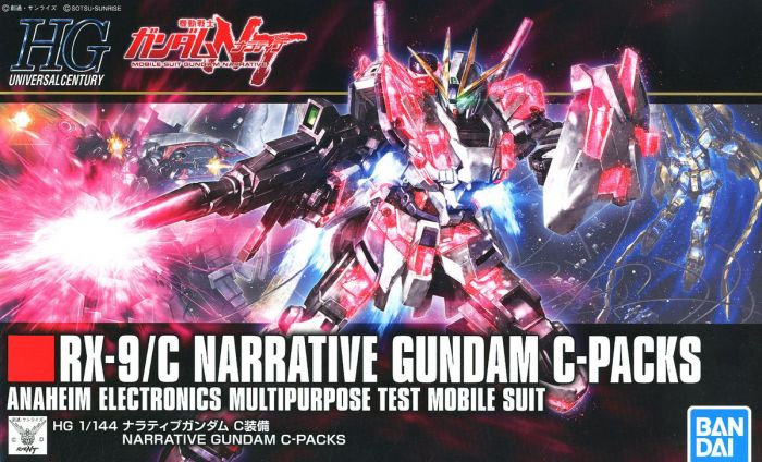 "#222 Narrative Gundam C-Packs ""Gundam NT"", Bandai HGUC 1/144"