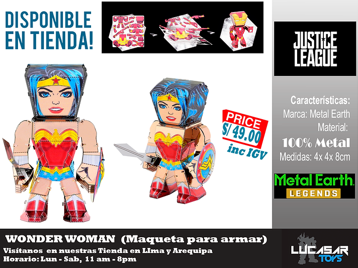Wonder Woman Metal Earth Legends