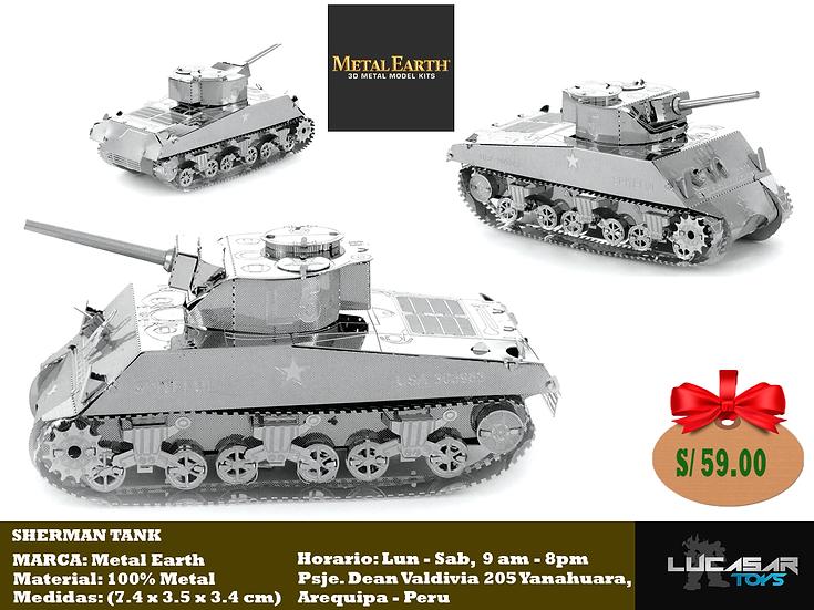 Sherman Tank by Metal Earth