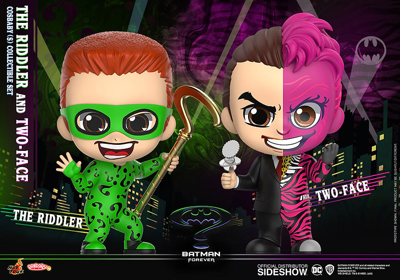 The Riddler & Two-Face Cosbaby (S) Collectible Set - Batman Forever (Hot Toys)