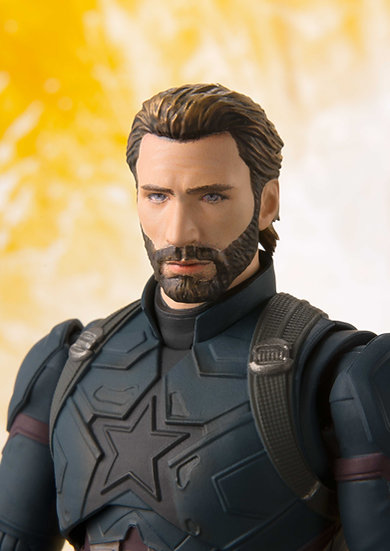 Capitan America & Effect Explosion SH Figuarts Avengers: Infinity War Bandai