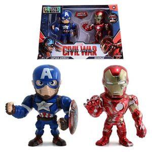 Pack Ironman Capitan De Metal 13 Cm Jada Toys