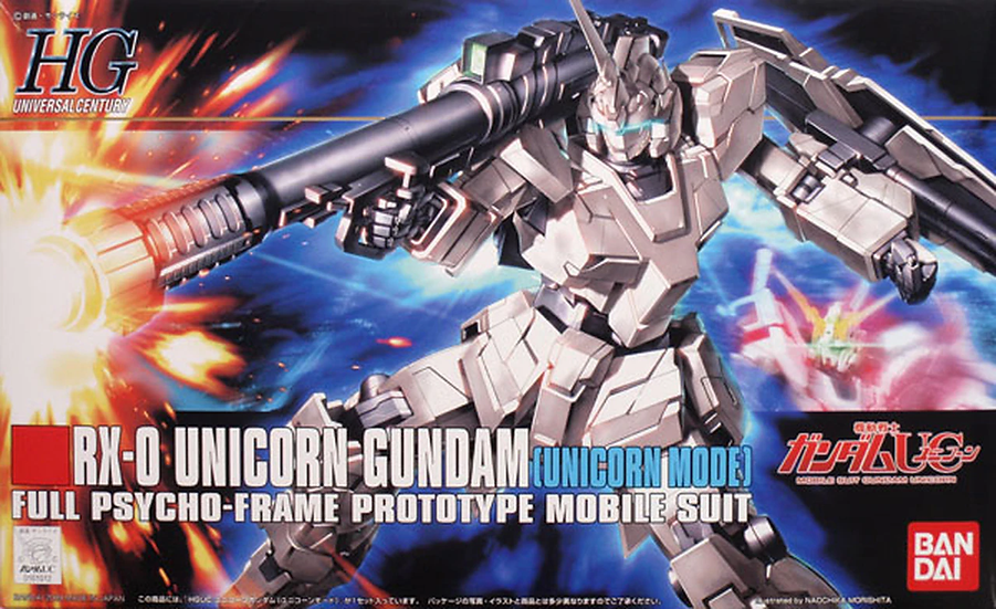 "#101 Unicorn Gundam (Unicorn Mode) ""Gundam UC"", Bandai HGUC 1/144"
