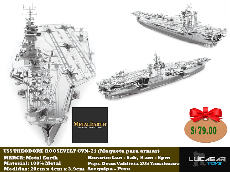 USS Theodore Roosevelt CVN - 71 by Metal Earth