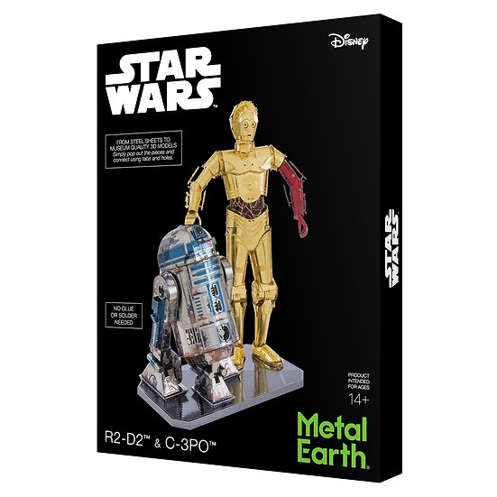Metal Earth - C-3PO & R2-D2 Deluxe Set - MMG276