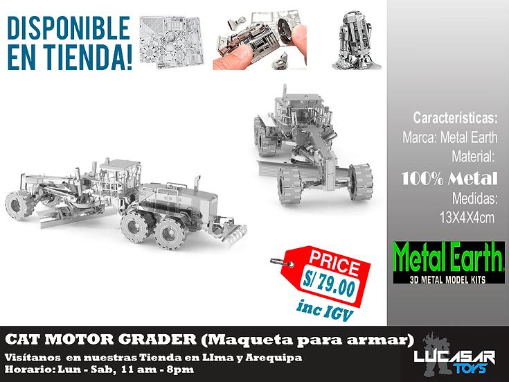 Cat Motor Grader Metal Earth