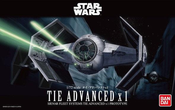 """Tie Advanced x1 """"Star Wars"""", Bandai Star Wars 1/72"""