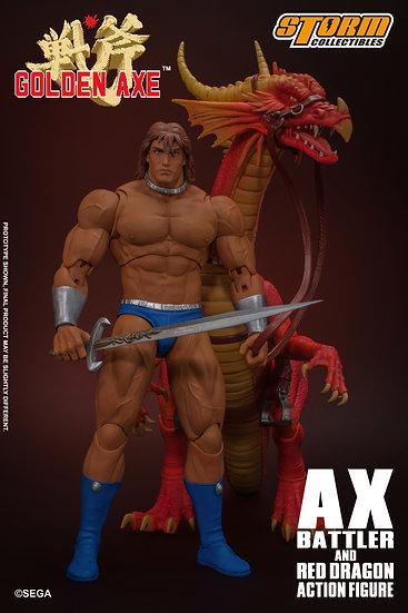 "Ax Battler & Red Dragon ""Golden Axe"", Storm Collectibles"
