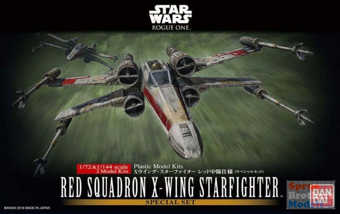 "Red Squadron X-Wing Starfighter Special Set ""Rogue One"", Bandai Star Wars 1/72 P"