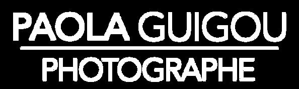 Logo PaolaGuigouPhotographe Blanc et tra