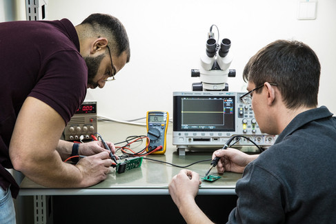 Electronics Engineering- After the design stage the first PCBs' produced are tested care fuly and integrated into the mechnic platform, SW flashed and then its all tested as a system