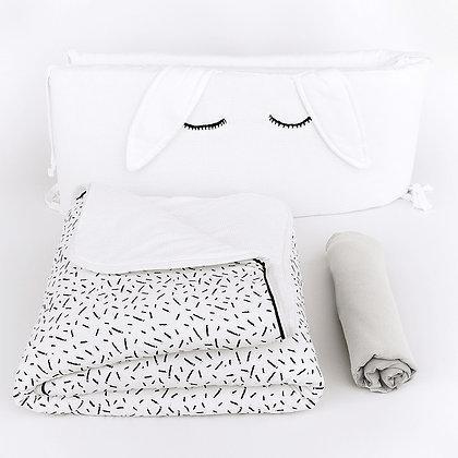 סט מצעים קונפטי למיטת תינוק