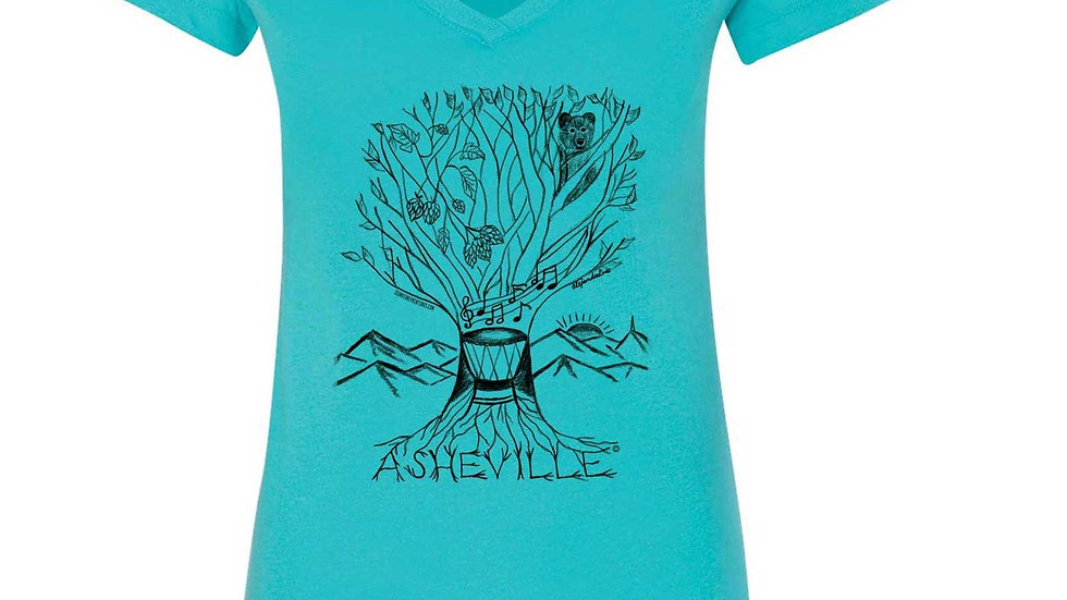 Asheville Tree Design T-shirts and Tanks