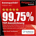 Datenqualität? Haben wir! TOP Auszeichnung von TecAlliance 2020