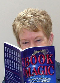 Julie H. Ferguson with her bestselling book for writers