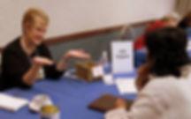 Julie H. Ferguson at a Blue Pencil Cafe (SiWC)